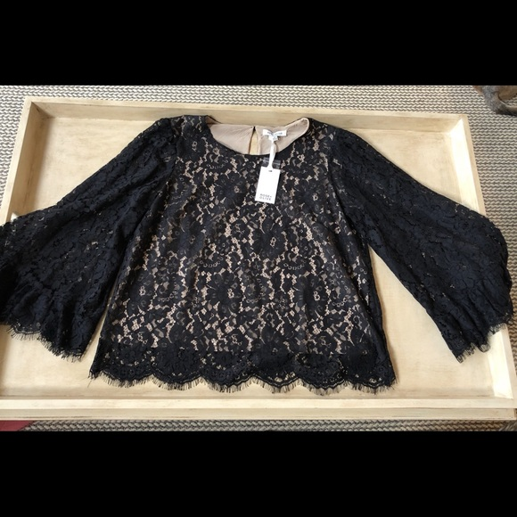 3ca346e128a2eb Rose & Olive Tops | Rose Olive Nwt Lace Top W Bell Sleeves | Poshmark
